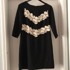 Dress, black with lace, Maggy London